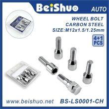 4 + 1 PCS Parafuso de bloqueio da roda para segurança de roda Blister duplo