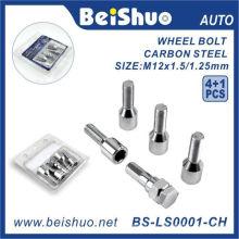 4 + 1PCS Усиленный стальной болт колеса колеса