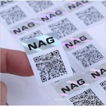 Qr Code Hologram Sticker Anti-Fake Label Scannable Hologram Serialized Qr Code Label Hologram Stickers for Packaging