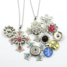 Custom Latest Design Snap Button Pendant Necklace