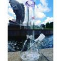 Couvercle le plus vendu avec la tige 3 Pinch Ice Catcher Glass Smoking Pipe