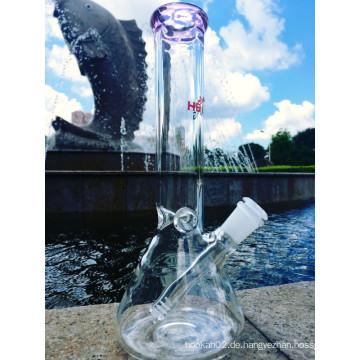Top Selling Beaker mit Stiel 3 Pinch Ice Catcher Glas Rauchen Rohr