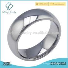 High polished men mirror ring, mirror tungsten silver ring mens