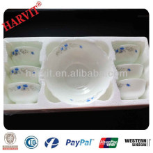 New 2014 Dubai Wholesale Market 7PC Enamel Cheap Opaleware Glass Bowls Sets with Decal Lunch Box Stock for Sale