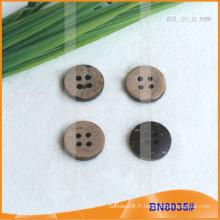 Boutons de noix de coco naturels pour le vêtement BN8035