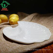 Platos de cena blancos, placa barata de la porcelana, platos de los platos de cerámica de la calidad del hign