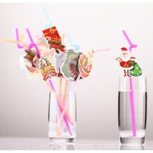 Happy Holiday Creative Cup Strohhalme Party Trink Strohhalme