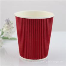 4oz, 8oz, 12oz, 16oz Disposable Ripple Wall Coffee Paper Cup