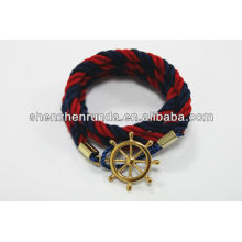 Fashion Jewelry Cotton Bracelet Red and Black Bracelet Manufactures & Suppliers & Factory