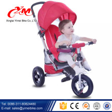 best quality 3 wheel baby tricycle stroller Alibaba sale/cute baby boy tricycle/Luxury children trike bike for baby with EN71