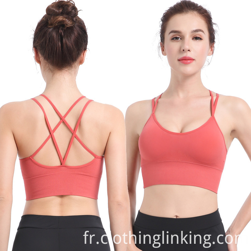 Criss Cross Back Running Bra for Plus Size
