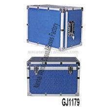 caja de herramienta de aluminio azul resistente