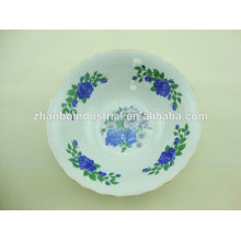Porcelain salad bowl with beautiful decal and cheap price