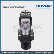 PTFE resistente a la corrosión, válvula solenoide de PVC para ácido, álcali