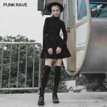 PUNK RAVE OPQ-621LQF girls sexy dart series clothes mini vintage bodycon party club wholesale black dress