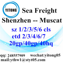 Agent d'expédition de fret mer de Shenzhen à Muscat