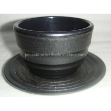 Hot Sale High Quality Printed High Quality Cast Iron Cup with Saucer