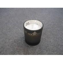 Bougie blanche classique parfumée en verre coloré