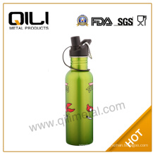 500ml insulated stainless steel sports bottle with painting