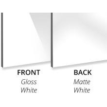 Aluminium-Verbundplatte 3mm Weiß glänzend/Weiß matt