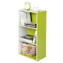 Wood Material Three Tiers Book Shelf