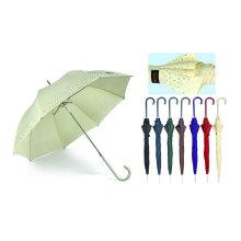 Border Print Straight Automatic Birdcage Umbrella (YS-SA23083919R)