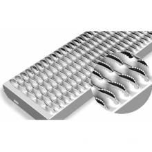 Outdoor Non Slip Serrated Safety Crocodile Beak Shape Stair Tread Steel Grating Hot Dipped Galvanized Steel