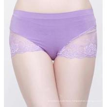 Bamboo Fiber Womens Seamless Briefs Sexy Lace Lingerie