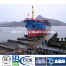 Airbag de goma para el lanzamiento y aterrizaje de buques