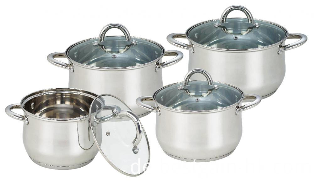 8 Pieces Belly Shape Cooking Pots