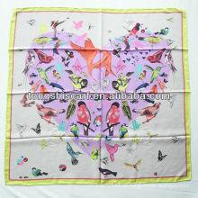 SB080-001 moda atacado novo lenço de seda de sarja
