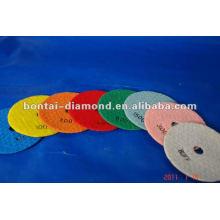 Grinding and polishing pad dry used
