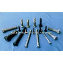 Pernos y tuercas de acero galvanizado estándar del carbón de la norma DIN