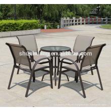 Hot sale aluminum frame chair teslin outdoor dining sets garden furniture
