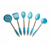 Blue Nylon Kitchenware 6pcs Kitchen Utensils Set