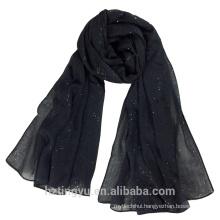 New Design 180*90cm plain Top selling cotton linen scarf shawl shimmer women hijab