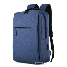 Wholesale newest outdoor fashion mens USB charging custom business slim laptop computer backpack