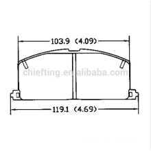 D242 for Toyota Brake Pads
