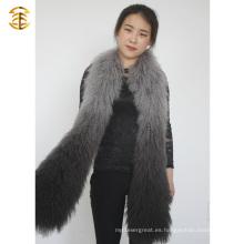 2015 nuevas pieles de invierno de las señoras de la manera genuina bufanda de Mongaolian de la piel