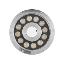 Anel de luz LED de aço inoxidável IP68 12W à prova d'água