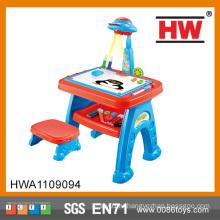 Детский многофункциональный учебно-рисовальные игрушки наборы для рисования Игрушечный проектор обучающий стол для детей