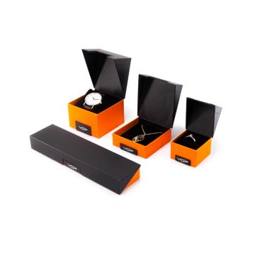 Caixas de embalagem de joias laranja