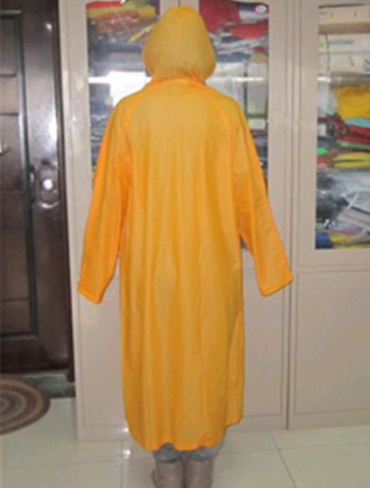 PVC raincoat one color without logo