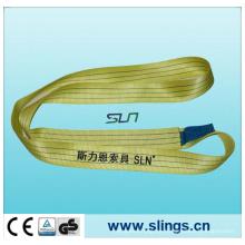 Factor de seguridad de la honda de las correas de poliéster amarillo 3tx1m 7: 1