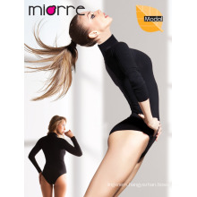 MIORRE LONG SLEEVE TURTLENECK WOMEN BODYSUIT WITH SNAP