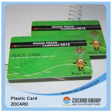 Cartão de fidelidade de PVC / cartões de presente plásticos / cartão de pagamento