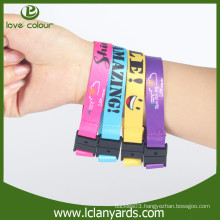 Custom detachable sublimation wristband with safety buckle