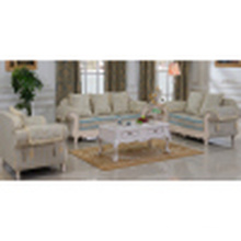 Fabric Sofa with Wooden Sofa Frame and Side Table (D92B)