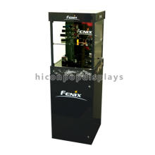 Floorstand Flashlight Wholesale Foldable Acrylic Wood Luxury Electronics Collectors Display Cabinet