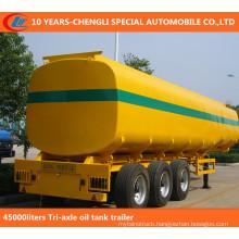 45000liters Tri-Axle Oil Tank Trailer, Fuel Tank Semi Trailer